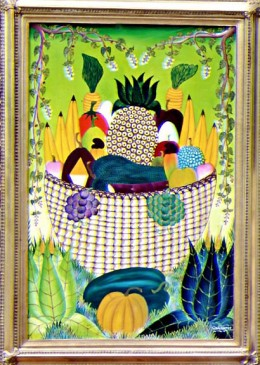 """Basket of Fruit"" - 1980's - Adam Leontus"