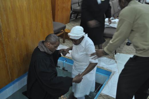 Re-Baptised on Good Friday at AToJC 4/6/12