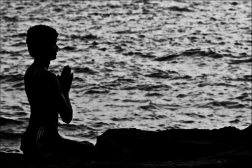 Yoga Prayer by the Sea
