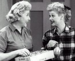 Lucy and Vivien Vance.