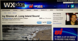 A screenshot of one of my articles on the weather social media site WxEdge.com