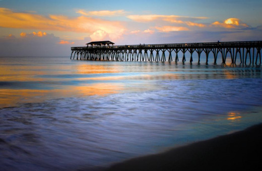 Beautiful Pier At Sunset