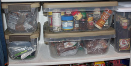 I love my Hefty Solutions storage bins for keeping like items together.