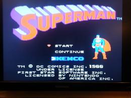 Screenshot of Superman on the NES