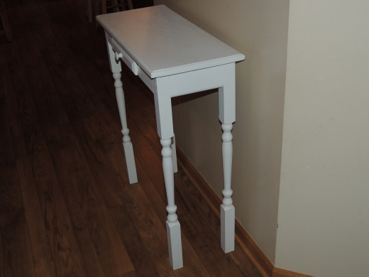 Side View of Entry Table