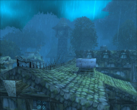 Darkshire, a common world PvP location.
