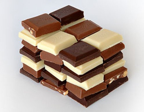 A stack of chocolate