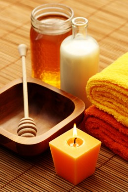 Milk and honey make for a luxurious and relaxing bath