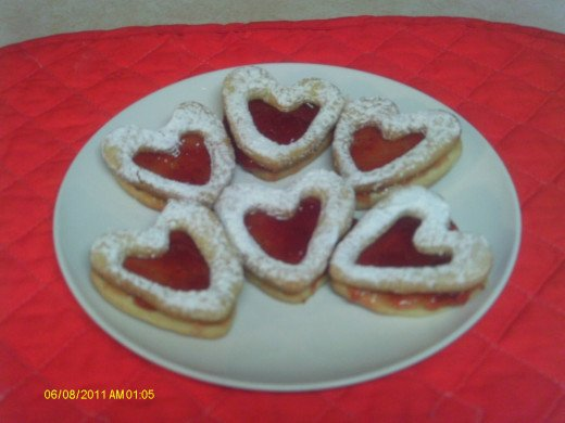 Bottom of My Heart Valentine Cookies