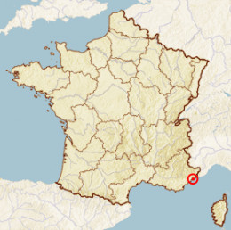 Map location of Nice, France