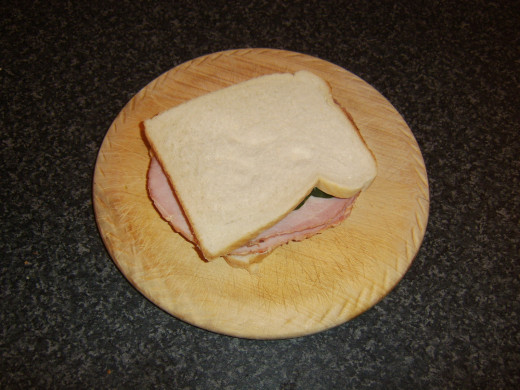 Second slice of bread completes sandwich