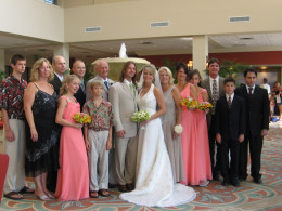 Our family - seven years ago at our daughter's wedding.