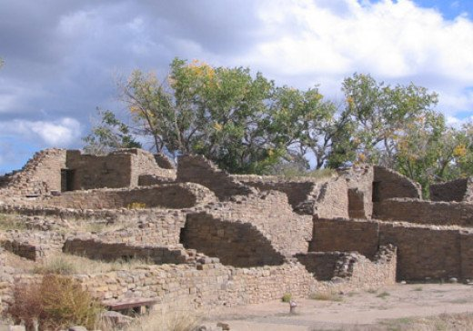 Bill Johnson took this photograph at the Aztec Ruins National Monument in October 2007.