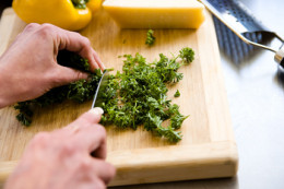 Chopped, fresh herbs make a great addition to your herbal cooking oil.