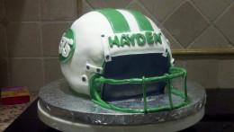 Football Helmet Birthday Cake