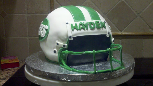 Football Helmet Birthday Cake