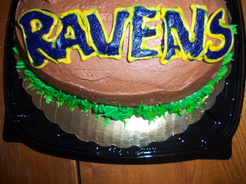 The Super Bowl cake is hot & fresh right out of the oven!