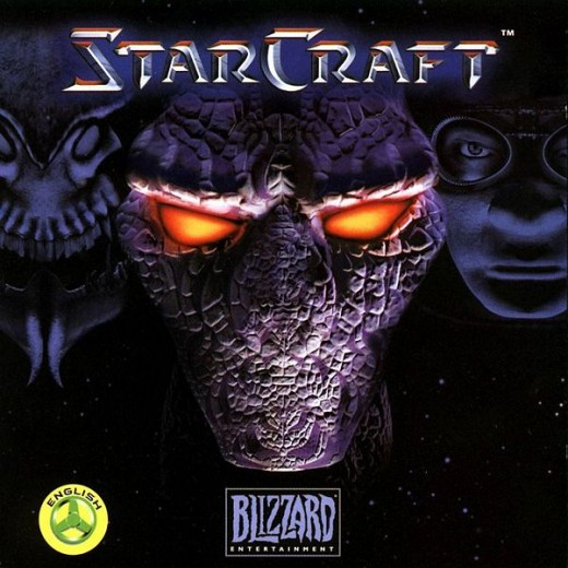The official cover of Starcraft.