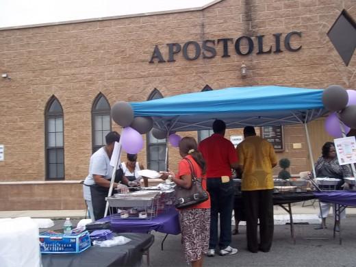 AToJC Food sampling fundraiser 7/14/12