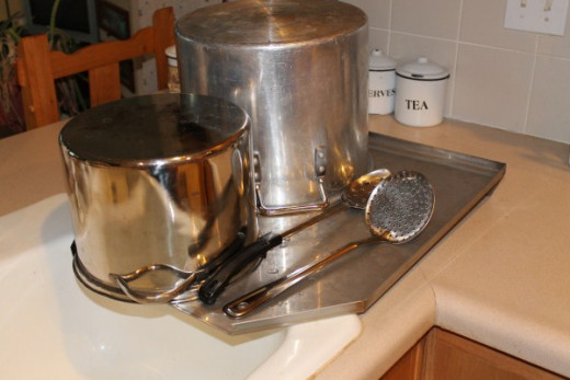 Stainless Drain Board Is Great For Large Pots