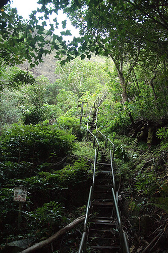 Start of the Haiku Stairs
