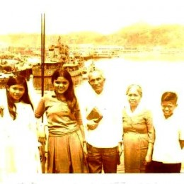On the ship in Tacloban City going to Masbate in 1970. My first time on a ship. We were a Missionary family. From left to right. My younger sister Leah (13), Me (15), Papa (61), Mama (59), my brother Junior (11)