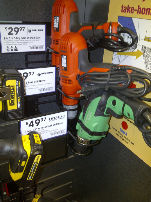 Drill Options- I prefer corded rather than powerless, I mean cordless