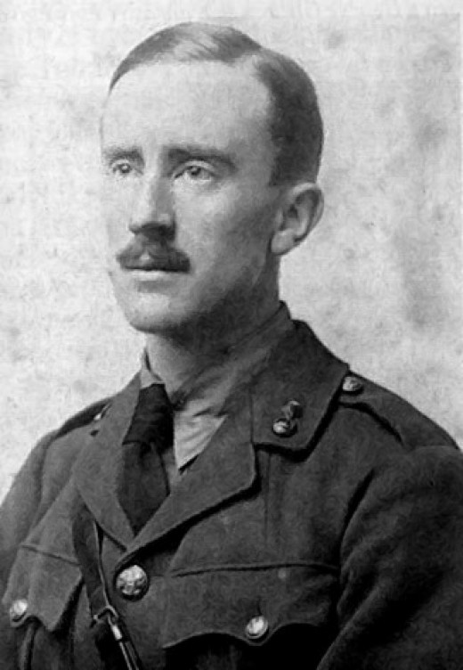 A young J. R. R. Tolkien.