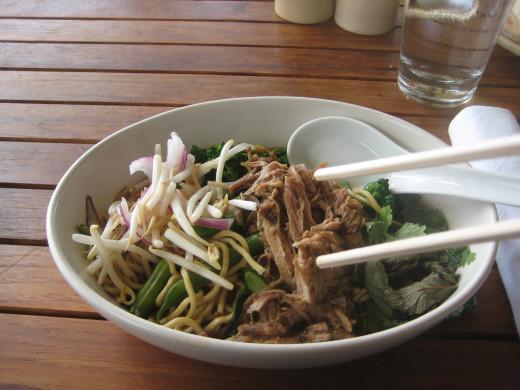 Saimin noodle dish at Monkeypod