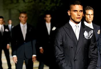Career serious men dresses in suits.