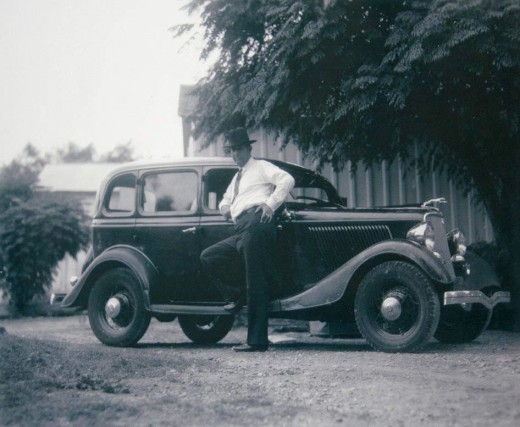 Frank Hamer and His Car