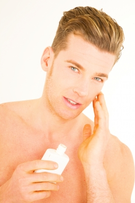 After shaving apply a light moisturizer and don't forget your sunscreen.