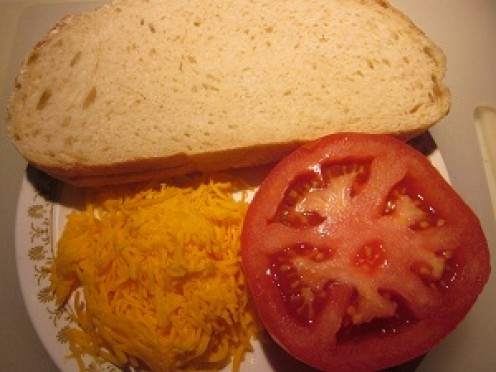 Quick and easy with tomatoes cheese and toast