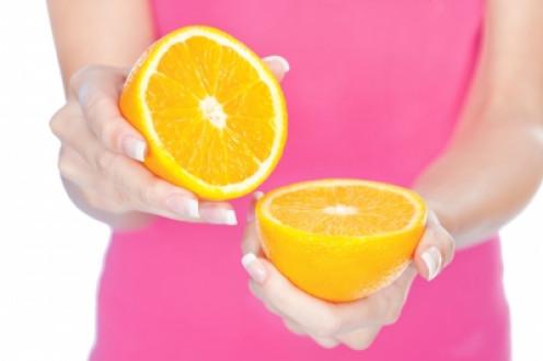 natural fruit acids in oranges make excellent skin exfoliants.