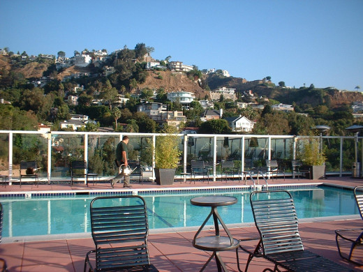 Can't beat the Hollywood Hills pools for Oscar parties!