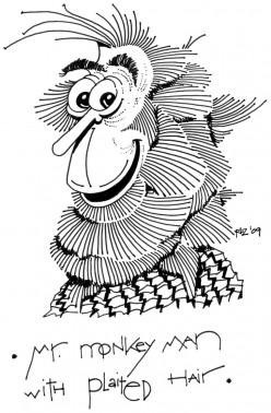Mr. Monkey Man with Plaited Hair