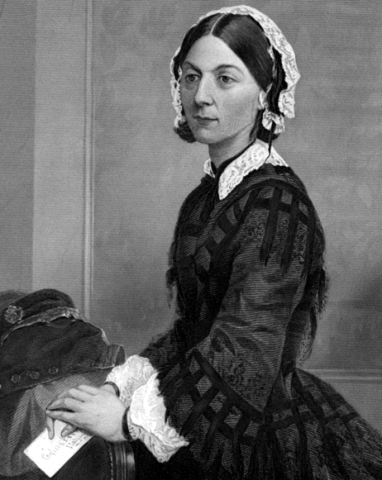 "Florence Nightingale. From ""Portrait Gallery of Eminent Men and Women in Europe and America"", New York: Johnson, Wilson & Company, 1873."