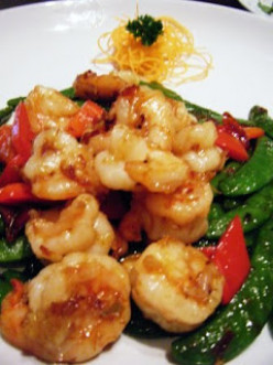 Prawns and Peppers in Garlic