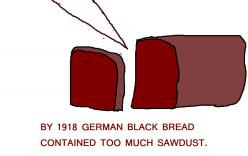 In 1918 Germans were starving.