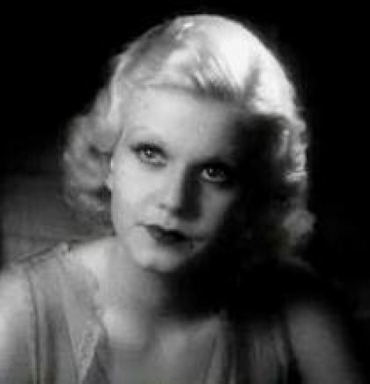 The immortal Jean Harlow, blonde bombshell.
