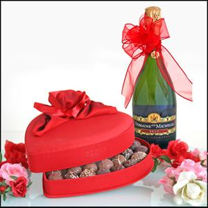 CHOCOLATES AND CHAMPAGNE GIFT
