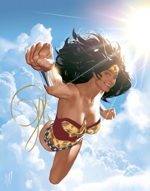 Wonder Woman illustrated by Adam Hughs