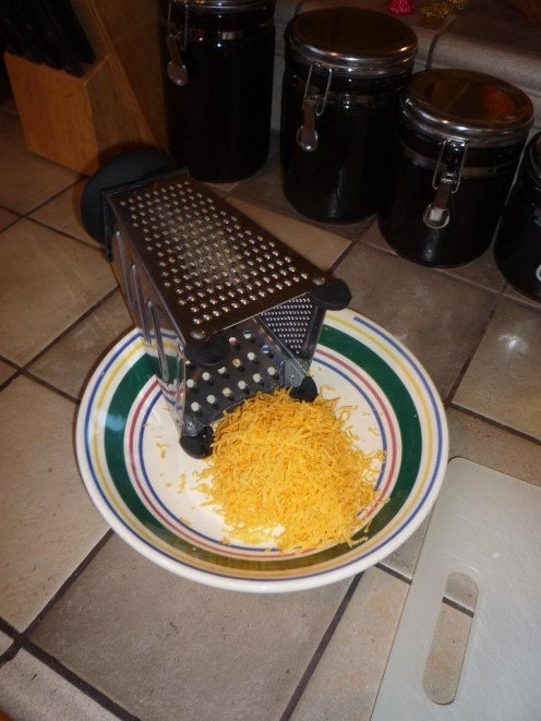 Don't worry about grating too much cheese, any excess can be stored for future use.