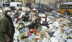 Trash piled up somewhere.