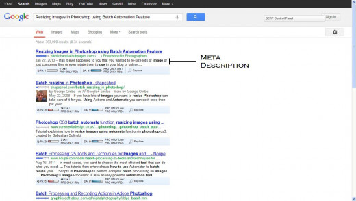 Meta Description Tags could be used to entice users to click your page by writing compelling copies