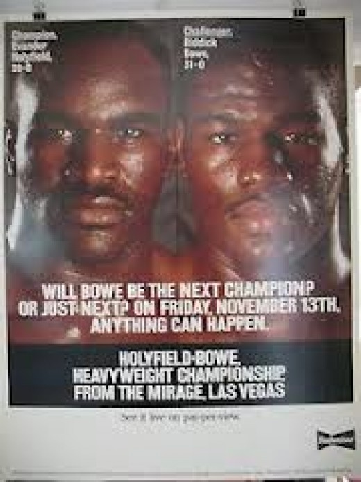 The Official Fight Poster for the first Evander Holyfield vs. Riddick Bowe Fights. They fought in three wars.