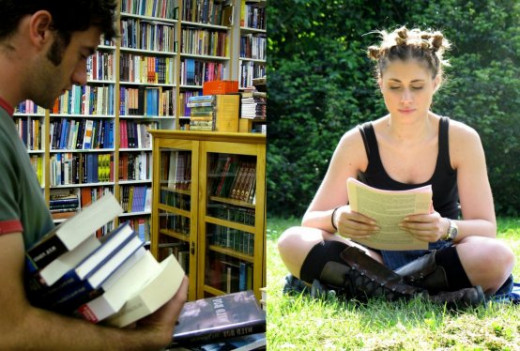 From the library to the park, the habit of reading books will keep you company in just about every walk of life.