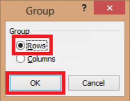 Selecting the grouping process