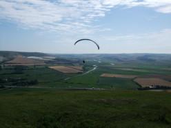 Paraglider off Mount Caburn