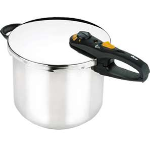 Thanks to features like a light that indicates when the right pressure is reached and a steamer basket, this FAGOR DUO 8-QUART PRESSURE COOKER is a favorite on ConsumerSearch.com